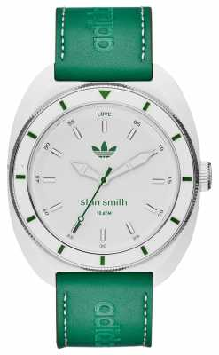 adidas Originals Mens Stan Smith Green Leather Strap ADH9086