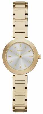 DKNY Womans Silver Dial Gold Strap NY2399