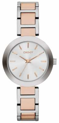 DKNY Womans White Dial Two Tone Strap NY2402