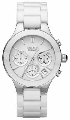 DKNY Womans White Chronograph Dial White Strap NY4912
