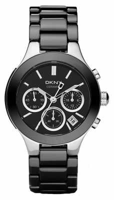 DKNY Womans Black Chronograph Dial Black Ceramic Strap NY4914
