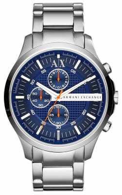 Armani Exchange Mens Blue Chronograph Dial Stainless Steel Strap AX2155