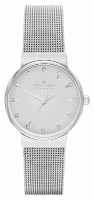 Skagen Womans Silver Mesh Strap Silver Dial SKW2195