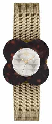 Orla Kiely Womens Poppy Gold Plated Dark Case OK4030