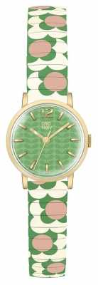 Orla Kiely Womans Green Dial Patterned Strap OK4042