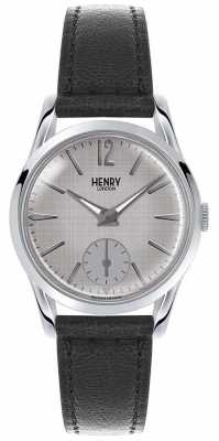 Henry London Womans Grey Dial Grey Leather Strap HL30-US-0073