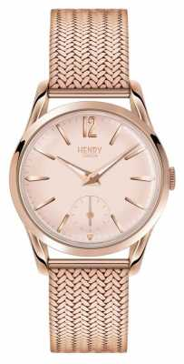 Henry London Womans Rose Gold Dial Rose Gold Plated Mesh Strap HL30-UM-0164