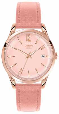 Henry London Womans Rose Gold Dial Pink Leather Strap HL39-S-0156