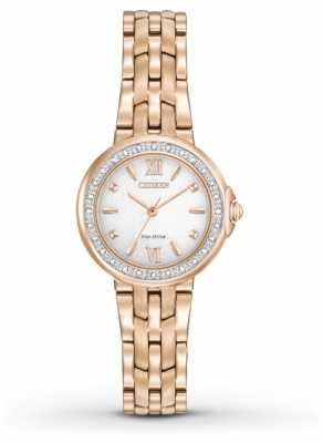 Citizen Womens 28 Diamonds Rose Gold PVD Plated EM0443-59A