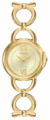 Citizen Womens Gold PVD Plated Gold Dial EX1452-53P