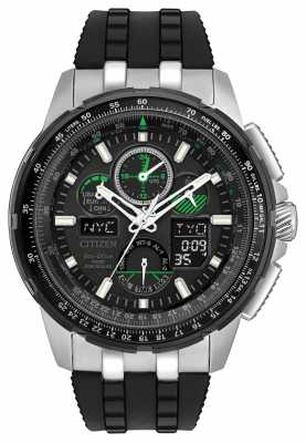 Citizen Mens Skyhawk A.T Radio Controlled Black Rubber Strap JY8051-08E