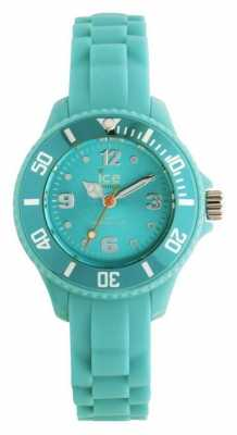 Ice-Watch Childrens Mini Silicone Turquoise Strap Turquoise Dial SI.TE.M.S.13