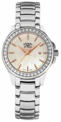 Rotary Womans Silver Strap White Dial LB90117/41