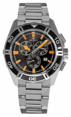 Rotary Mens Aquaspeed Chronograph Stainless Steel Strap AGB90088/C/04