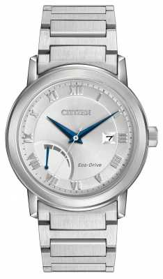 Citizen Mens Stainless Steel Eco-Drive Bracelet AW7020-51A