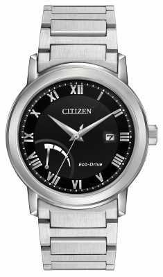 Citizen Mens Bracelet Black Dial Eco-Drive Power Reserve AW7020-51E