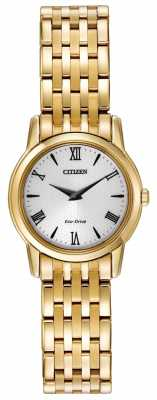 Citizen Womens Eco-Drive Stiletto Gold Plated EG3042-54B