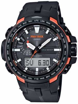 Casio Pro-Trek Mens Barometer Temperature Black Orange PRW-6100Y-1ER