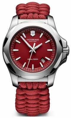 Victorinox Swiss Army Mens I.N.O.X. Naimakka Bracelet, Red Dial 241744