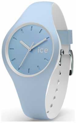 Ice-Watch Unisex Duo Blue White Silicone Strap Blue Dial DUO.WES.S.S