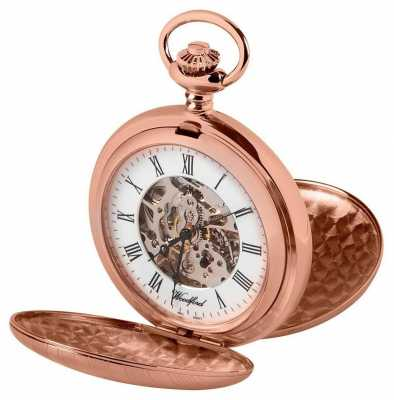 Woodford Double Hunter Rose Gold Pocket Watch 1090