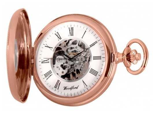 Woodford Herren Roségold PVD beschichtet mit Handaufzug mechanische analoge Uhr 1092