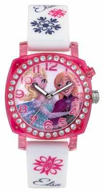 Disney Frozen Elsa And Anna Lightup Pink Case White Silicone Strap FZN3789