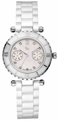 Gc Womens Diver Chic Diamond White Ceramic I46003L1