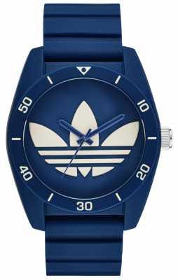adidas Originals Mens Blue Silicone Strap Blue Dial ADH3138