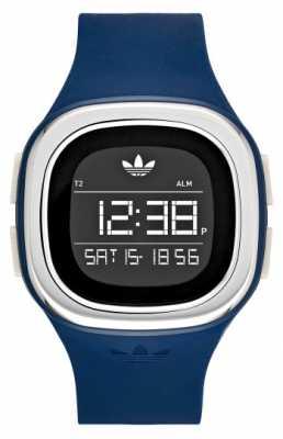 adidas Originals Mens Blue Silicone Strap Square Digital Dial ADH3139