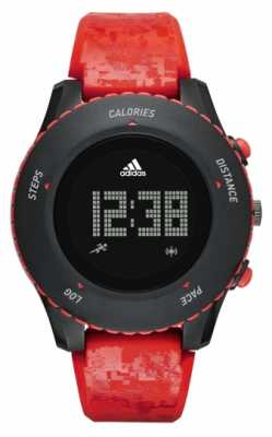 adidas Performance Mens Red Patterned Silicone Strap Digital ADP3259