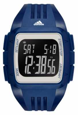 adidas Performance Mens Blue Silicone Strap Square Digital Dial ADP3265