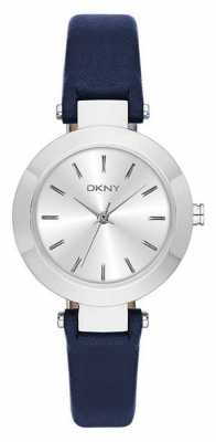 DKNY Ladies Stanhope Navy Leather Strap Watch NY2412