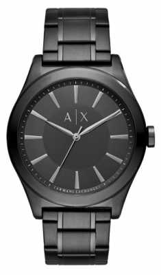 Armani Exchange Mens Black Stainless Steel Strap Black Dial AX2322