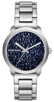 Diesel Womans Stainless Steel Silver Strap Patterned Dial DZ5522