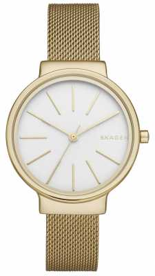 Skagen Womans Gold Plated Stainless Steel Mesh Strap SKW2477