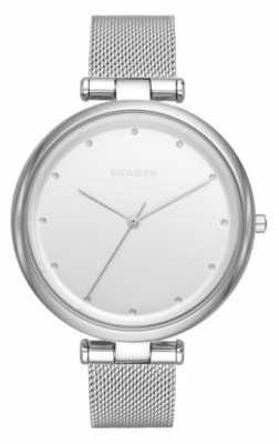 Skagen Womans Stainless Steel Silver Mesh Strap SKW2485