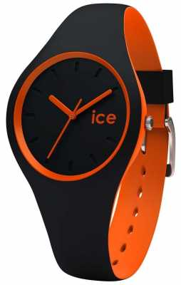 Ice-Watch Small DUO Black Orange Silicone Strap DUO.BKO.S.S