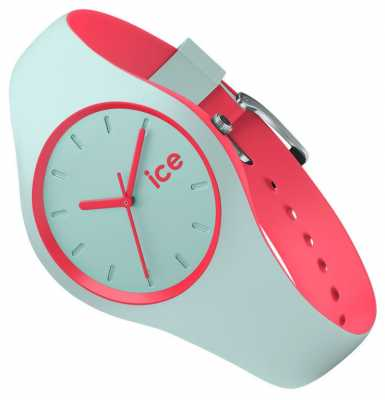 Ice-Watch small DUO Mint Coral Rubber Strap DUO.MCO.S.S