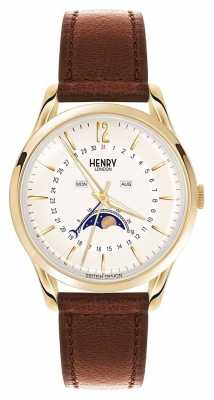Henry London Westminster Gold Case Brown Leather Strap HL39-LS-0148