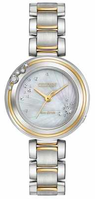 Citizen Womens Sunrise Diamond Two Tone EM0464-59D