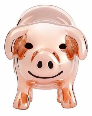 Chamilia Rose Gold Plated Piggy Bank 2020-0831