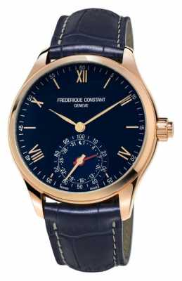 Frederique Constant Horological Smartwatch Blue Rose Gold Bluetooth FC-285N5B4
