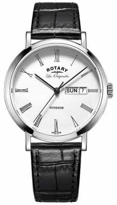 Rotary Mens Les Originales Windsor Black Leather GS90153/01