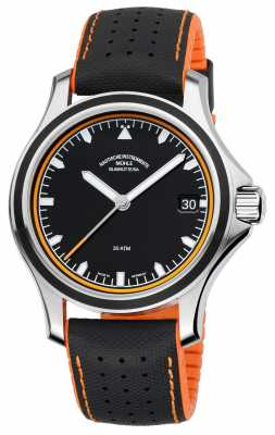 Muhle Glashutte ProMare Datum Synthetic Band Black Dial M1-42-13-NB