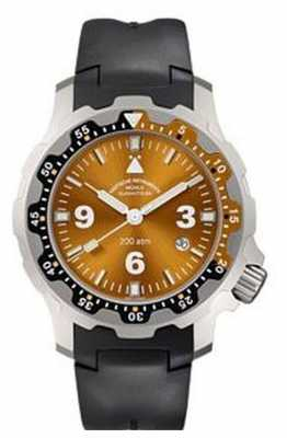 Muhle Glashutte Rasmus 2000 Indian Rubber Band Orange Dial M1-28-87-KB
