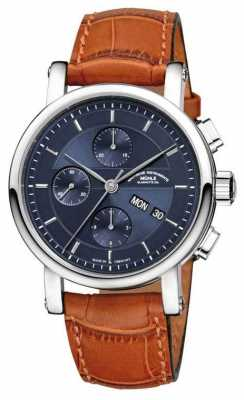 Muhle Glashutte Teutonia II Grossdatum Chronometer Leather Band Night Blue Dial M1-33-76-LB