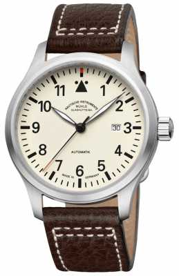 Muhle Glashutte Terrasport I Leather Band Cream Dial M1-37-37-LB