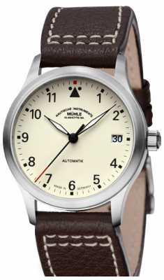 Muhle Glashutte Terrasport III Leather Band Cream Dial M1-37-87-LB