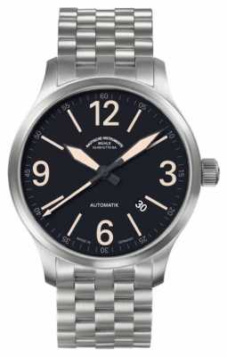 Muhle Glashutte New Terranaut III Trail (stainless steel) Synthetic Band Black  Dial M1-40-14/1-NB